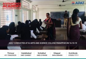 If you think Accounting is hard, it is. But if you're strong enough, you can conquer it in a matter of time. APAT conducted at UI Arts & Science College, Parappur on 16th October 2019.