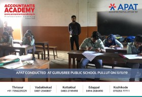 Great people don't happen by chance. They worked hard to become who they are now! APAT conducted at Gurusree Public School Pullut on 11th November.