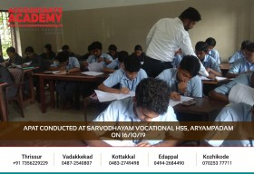 A small decision now, but a bright future around the corner! APAT conducted at Sarvodhayam Vocational HSS Aryampadam on 16th October 2019.