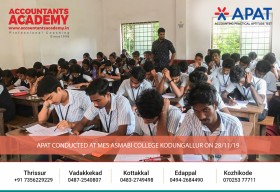 If you focus on obstacles, you might stumble a lot on your way. But if your eyes are set on the goal, then you will definitely get ahead. APAT conducted at MES Asmabi college Kodungallur on 28th November.
