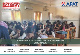 Hard work is the key to open the door to success. APAT conducted at Govt. College Thavanoor on 10th December.