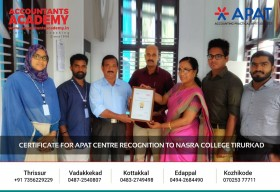 Certificate Distribution for APAT Centre Recognition. We are grateful for the cooperation and assistance we'd received throughout the APAT (Accounting Aptitude Practical Test) program, for finding aspirant Accountants.