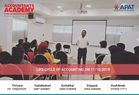 Being an Accountant is not easy. And that's why it's great!  Life cycle on Accounting conducted at Accountants Academy on 17th October.