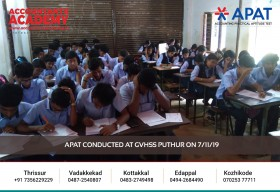 If you want to be an accountant, start working and don't rest until you're one. APAT conducted at GVHSS Puthur on 7th November.
