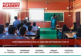 Right choices will lead you to Bright places! APAT Orientation Class held at AKM HSS Kottoor on 17th October 2019