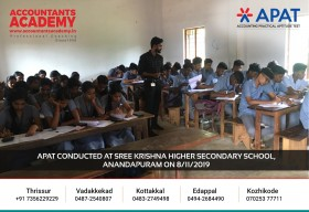 You write your own future. APAT conducted at Sree Krishna Higher Secondary School, Anandapuram on 8th November.