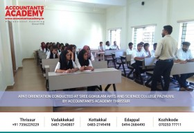 APAT orientation successfully conducted at Sree Gokulam Arts and Science College, Pazhuvil by Accountants Academy, Thrissur.