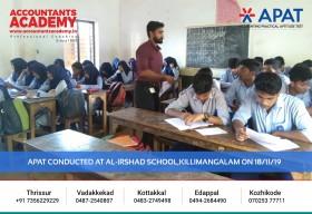 Accomplish your Accounting dreams with Accountants Academy. APAT conducted at Al-Irshad School, Killimangalam on 18th November.
