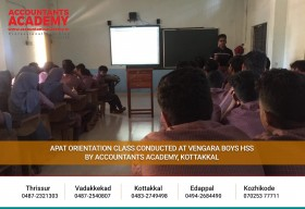 APAT Orientation Class Conducted at Vengara Boys HSS by Accountants Academy, Kottakkal