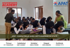 Accounting career is not for everyone. It is for the ones with a strong sense of ethics. APAT conducted at GHSS Chettiyankinar on November 5th.