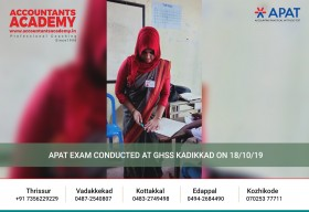 Success doesn't knock on every door. It's up to you to find the right door. APAT Exam conducted at GHSS Kadikkad on 18th October 2019.