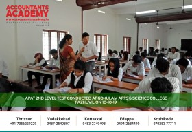 An opportunity to determine your abilities in Accounting Future! Test conducted at Gokulam Arts & Science college Pazhuvil as a part of APAT 2nd Level Launching on 10th Oct 2019.