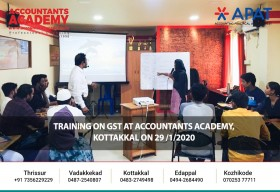 Detailed lecture on GST. Training on GST at Accountants Academy, Kottakkal on 29th January 2020.