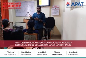 Constant Learning is the key to become an Accountant. APAT Orientation and Exam conducted in Academy Kottakkal (Guide College Puthanathani) on 2nd November.