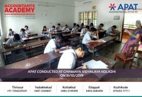 Opening the doors of the Accounting career. APAT conducted at Chinmaya Vidyalaya Kolazhi on October 31st.