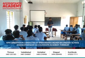 Hoping our classes made a positive difference in their career views.  APAT Orientation Conducted at Sreekrishna Higher Secondary School, Anandapuram by Accountants Academy, Thrissur