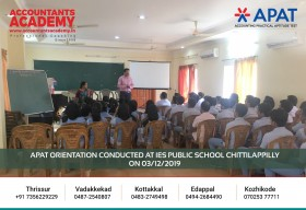 Fresh minds are the easiest to guide! APAT Orientation conducted at IES Public School Chittilappilly on 3rd December.