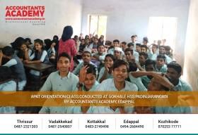 Today's children, Tomorrow's promise!  APAT Orientation Class Conducted at Gokhale HSS Padinjarangadi by Accountants Academy, Edappal