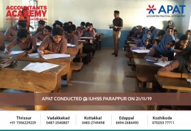 Accounting is not easy, but it is not that hard either! APAT conducted at IUHSS Parappur on November 21st.